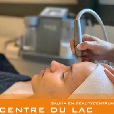 Microdermabrasie + ultrasone behandeling + speciaal masker